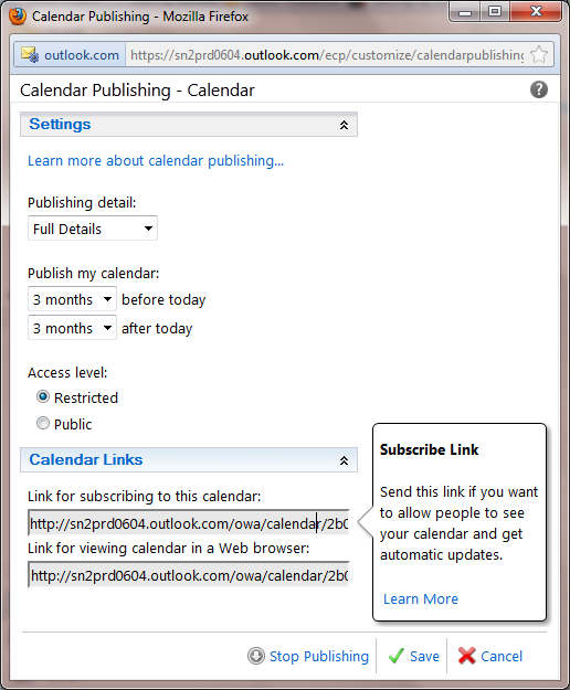 office365-calendar-publishing